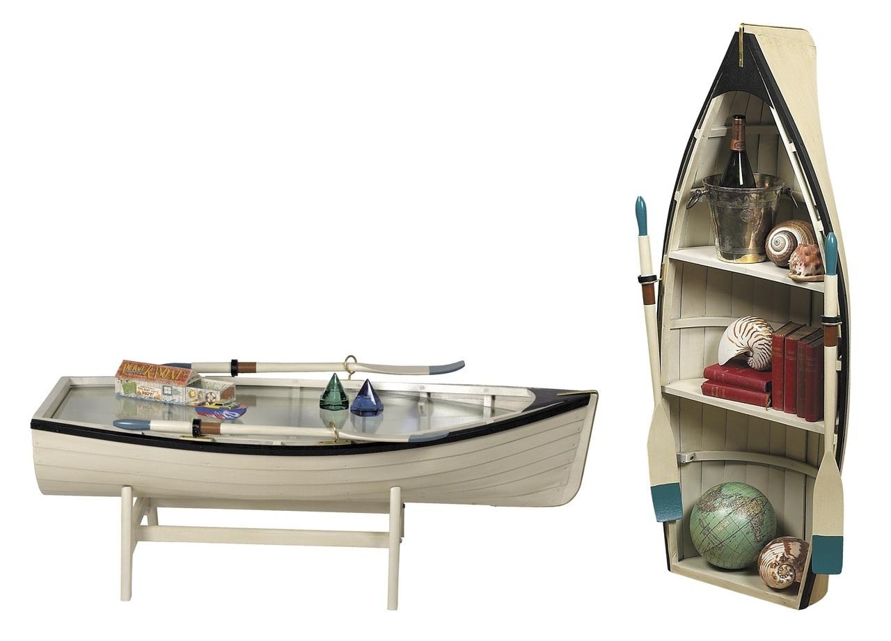 Barca a remi tavolino libreria authentic models shop for Arredamento barca