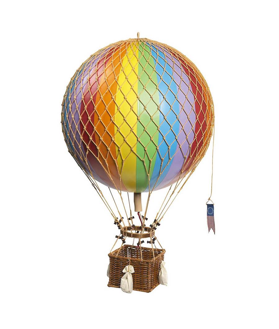 Mongolfiera In Cartapesta.Mongolfiera Jules Verne Arcobaleno 42 Cm